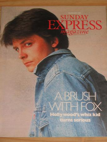 MICHAEL J FOX 1990 SUNDAY EXPRESS MAG 28 JAN VINTAGE PUBLICATION FOR SALE CLASSIC IMAGES OF THE 20TH