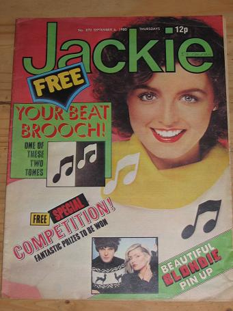 BLONDIE JACKIE MAG SEP 6 1980 NUMAN VINTAGE TEEN PUBLICATION FOR SALE CLASSIC IMAGES OF THE 20TH CEN