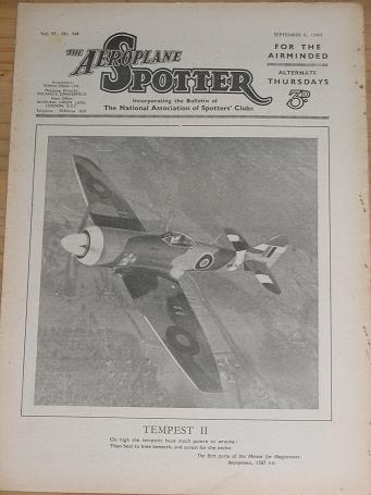 ISSUE 144 AEROPLANE SPOTTER MAG SEP 6 1945 ORIGINAL VINTAGE AVIATION PUBLICATION FOR SALE CLASSIC IM