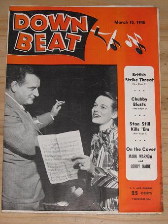 DOWN BEAT MAGAZINE MARCH 10 1948 BACK ISSUE FOR SALE VINTAGE AMERICAN JAZZ BIG BAND MUSIC PUBLICATIO