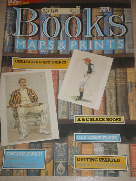 BOOKS MAPS AND PRINTS magazine, May 1989 issue for sale. SPY, BIGGLES. Original English publication