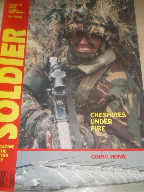 SOLDIER magazine, April 29 1991 issue for sale. Original British publication from Tilley, Chesterfie