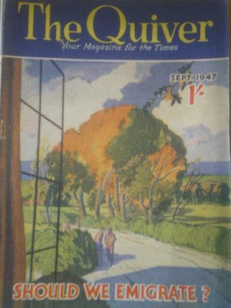 The QUIVER magazine, September 1947 issue for sale. Original British publication from Tilley, Cheste