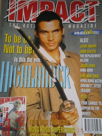 IMPACT magazine, April 1998 issue for sale. HIGHLANDER. Original British ACTION MOVIE publication fr