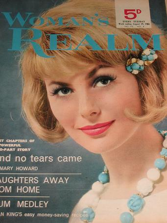 WOMANS REALM magazine, August 19 1961 issue for sale. FICTION, FASHION, KNITTING. Birthday gifts fro