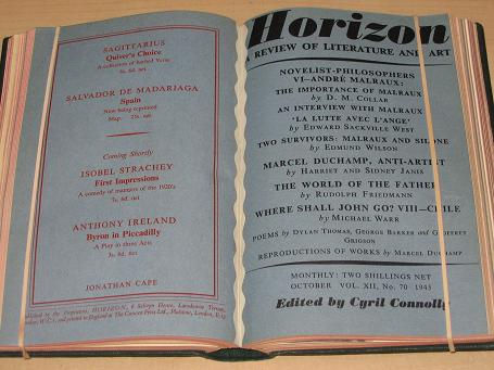 HORIZON magazine, Volume 12, July, August, September, October, November, December 1945 issues for sa