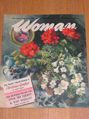 WOMAN magazine December 17 1949. Vintage post-war publication for sale. Classic images of the twenti