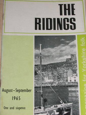 THE RIDINGS magazine, August - September 1965 issue for sale. FOR YORKSHIRE FOLK. Birthday gifts fro