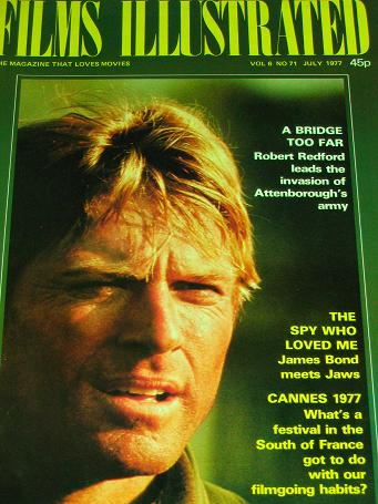 FILMS ILLUSTRATED magazine, July 1977 issue for sale. ROBERT REDFORD. Original British MOVIE publica