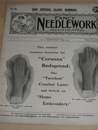 FANCY NEEDLEWORK ILLUSTRATED No. 46. CROCHET, EMBROIDERY. 1918 - 1925. Antique CRAFTS, WOMENS public