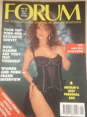 FORUM magazine, Volume 24 Number 8 1991 issue for sale. Original British adult publication from Till