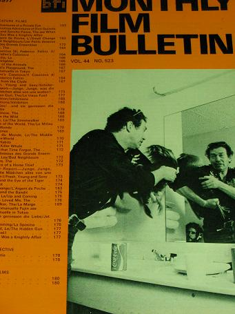 MONTHLY FILM BULLETIN, August 1977 issue for sale. Original BRITISH FILM INSTITUTE publication from