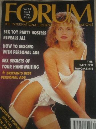 FORUM magazine, Volume 23 Number 8 1990 issue for sale. Original British adult publication from Till