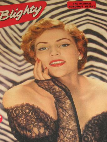 BLIGHTY magazine, June 25 1955 issue for sale. PIN-UPS, CARTOONS, STORIES publication. Classic image
