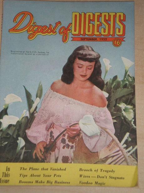 DIGEST OF DIGESTS magazine, September 1952 issue for sale. Original AUSTRALIAN publication from Till