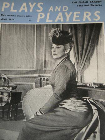 PLAY AND PLAYERS magazine, April 1957 issue for sale. EDWIGE FEUILLERE. Original British publication