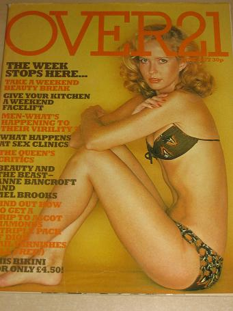 OVER 21 magazine, June 1977 issue for sale. Vintage WOMENS FASHION, BEAUTY, FICTION publication. Cla