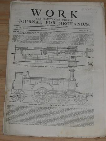 WORK MECHANICS JOURNAL FEBRUARY 2 1895 ISSUE FOR SALE ORIGINAL ANTIQUE ENGINEERING HOBBIES DO-IT-YOU