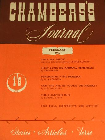 CHAMBERS JOURNAL, February 1950 issue for sale. GOODWIN. Classic images of the twentieth century. ST
