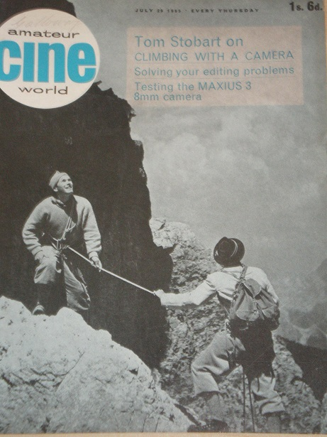 AMATEUR CINE WORLD magazine, July 29 1965 issue for sale. Original British publication from Tilley,