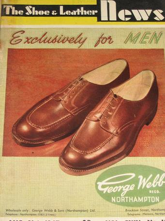 THE SHOE AND LEATHER NEWS magazine, August 21 1947 issue for sale. British footwear trade publicatio
