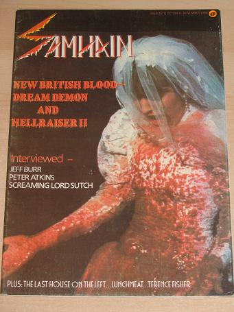 SAMHAIN magazine November 1988. COCKLISS, ATKINS, SUTCH, FISHER. Vintage HORROR publication for sale
