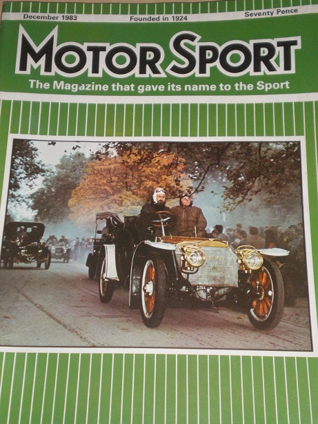 MOTOR SPORT magazine, December 1983 issue for sale. Original British publication from Tilley, Cheste