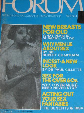FORUM magazine, Volume 5 Number 4 issue for sale. 1972 ADULT, SEXUAL RELATIONS publication. Classic