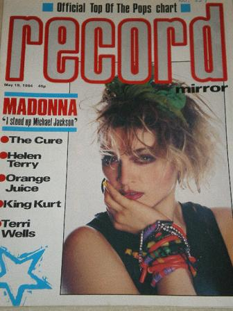 RECORD MIRROR magazine, May 19 1984 issue for sale. MADONNA, CURE, HELEN TERRY, ORANGE JUICE, KING K