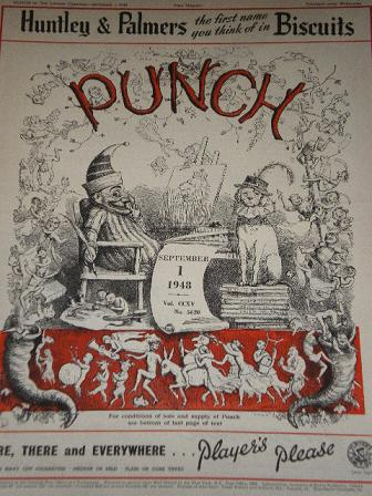 PUNCH magazine, September 1 1948 issue for sale. Original British publication from Tilleys, Chesterf