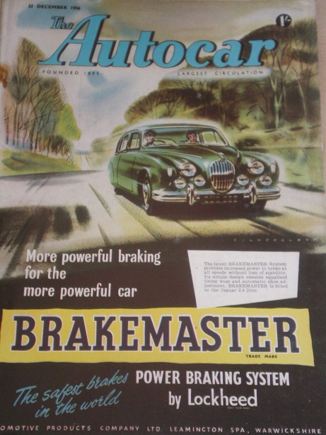 AUTOCAR magazine, 21 December 1956 issue for sale. Original BRITISH MOTORING publication from Tilley