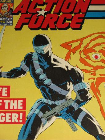 ACTION FORCE comic, 1987 issue Number 40 for sale. Original British publication from Tilleys, Cheste