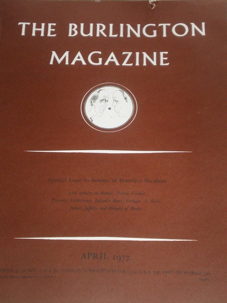 THE BURLINGTON MAGAZINE, April 1977 issue for sale. FINE ART, DECORATIVE ART. Original British acade