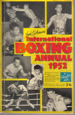 BOXING ANNUAL 1952 INTERNATIONAL SOLOMONS PLAYFAIR BOOK FOR SALE