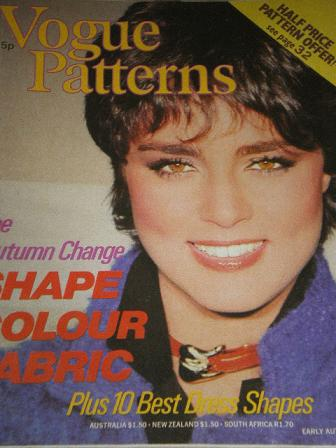 VOGUE PATTERNS, Early Autumn 1979 issue for sale. Original British FASHION publication from Tilley,