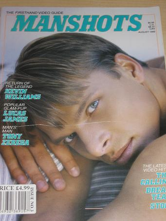 MANSHOTS magazine, August 1999 issue for sale. ADULT, GAY MEN publication. The past in print, presen
