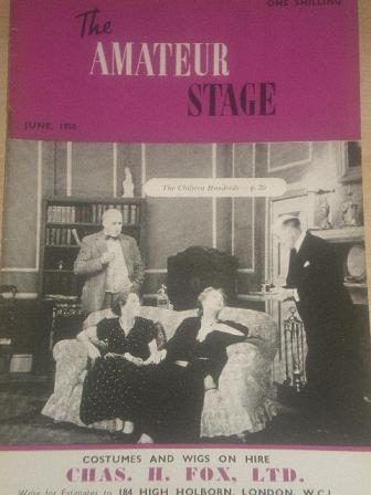 The AMATEUR STAGE magazine, June 1950 issue for sale. STAGECRAFT, NEWS, VIEWS, COMING EVENTS, NEW PL