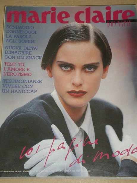 MARIE CLAIRE magazine, October 1989 issue for sale. Original ITALIAN, FASHION publication from Tille