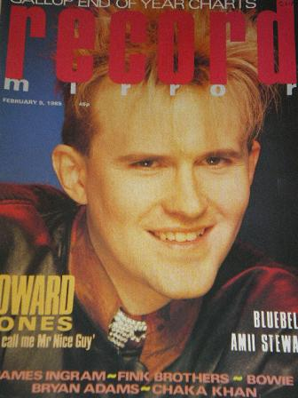 RECORD MIRROR magazine, February 9 1985 issue for sale. HOWARD JONES, BOWIE, BRYAN ADAMS, CHAKA KHAN
