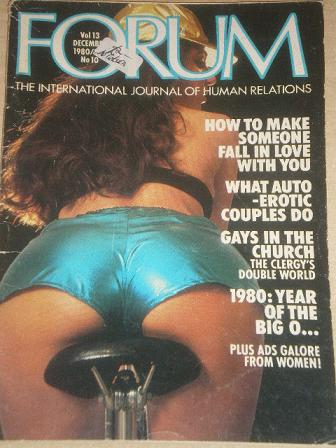 FORUM magazine, December 1980 issue for sale. Original British adult publication from Tilley, Cheste