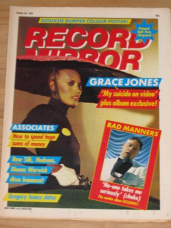 RECORD MIRROR OCTOBER 30 1982 WARWICK BAD MANNERS BACK ISSUE FOR SALE ORIGINAL VINTAGE POP MUSIC PUB