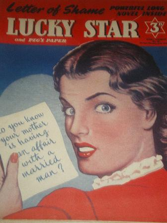 LUCKY STAR, June 16 1952 issue for sale. Original British STORY PAPER from Tilley, Chesterfield, Der