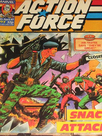 ACTION FORCE comic, 1987 issue Number 7 for sale. Original British publication from Tilleys, Chester