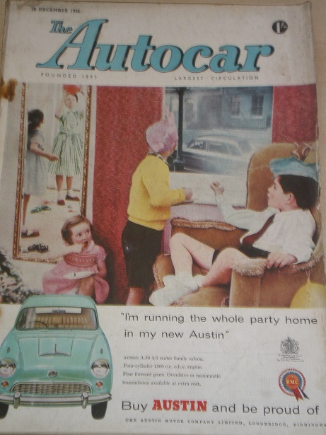 AUTOCAR magazine, 28 December 1956 issue for sale. Original BRITISH MOTORING publication from Tilley