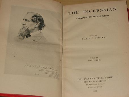 THE DICKENSIAN magazine, Volume 49, 1952, 1953 issues for sale. Original, bound literary publication