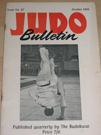 JUDO BULLETIN, October 1966 issue for sale. BUDOKWAI. TILLEYS, Chesterfield, Derbyshire, UK, long es