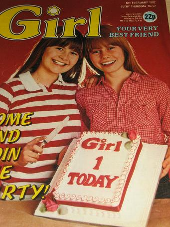 GIRL magazine, 6 February 1982 issue for sale. MADNESS. British teen publication. Tilleys, Chesterfi