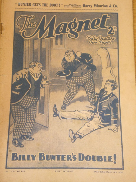 THE MAGNET story paper, March 19 1938 issue for sale. BILLY BUNTER, CHARLES HAMILTON, FRANK RICHARDS