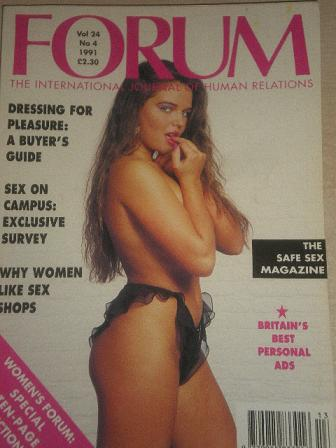 FORUM magazine, Volume 24 Number 4 1991 issue for sale. Original British adult publication from Till