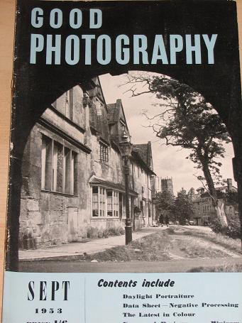 GOOD PHOTOGRAPHY magazine, September 1953 issue for sale. Vintage PHOTO, CAMERA publication. Classic
